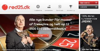 Rød25 Freespins bonus – Uden indbetaling