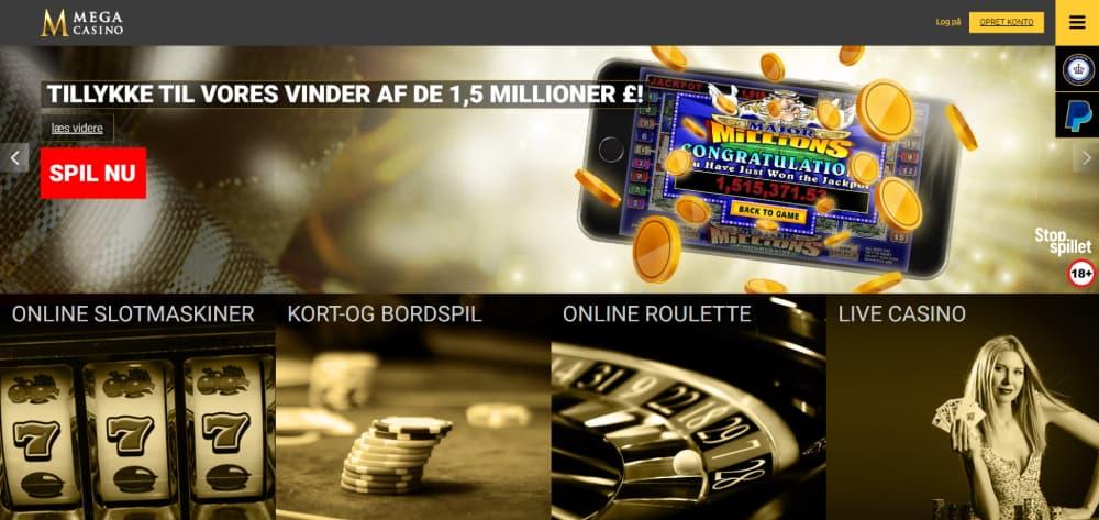 Mega Casino hjemmeside