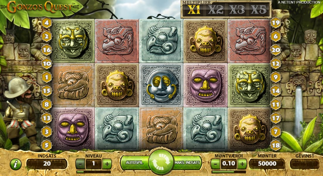 Gonzo's Quest spilleplade