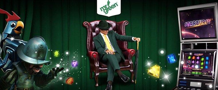 Mr Green og Spilleautomater Banner