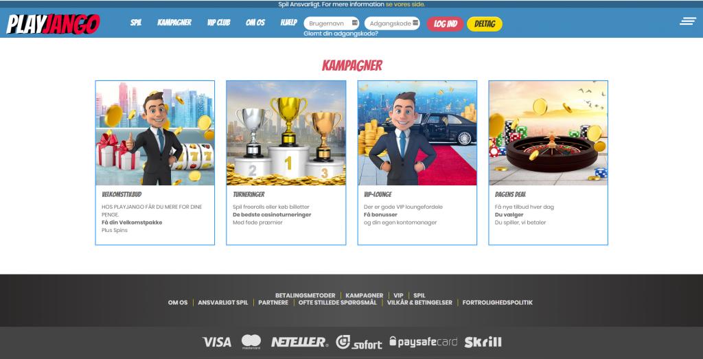 PlayJango Casino Kampagner