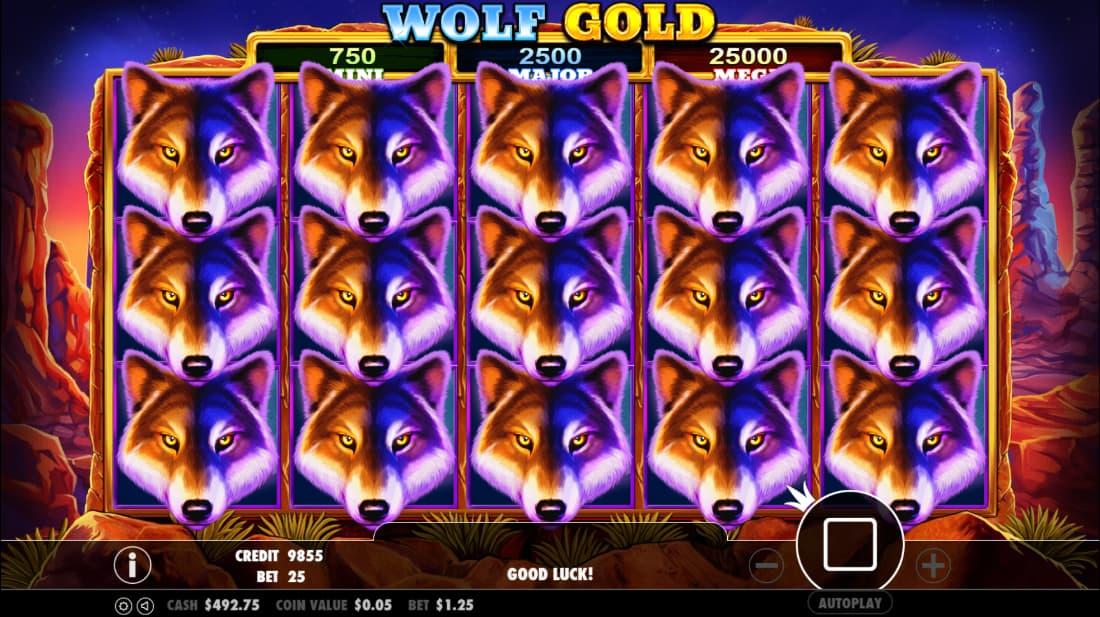 Wolf Gold Spilleplade Bonus