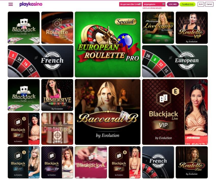 Play Kasino Live Casino